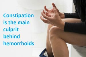Constipation main cause of hemorrhoids