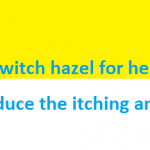 Does witch hazel for hemorrhoids reduce the itching and burning