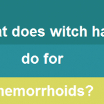 what does witch hazel do for hemorrhoids